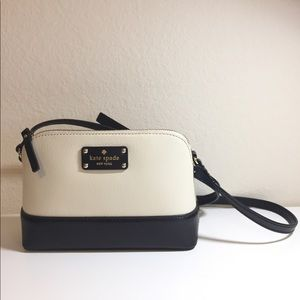 NWOT Kate Spade black and white Hanna cross body.